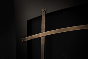Image of Optional Napoleon Altitude X Arched Iron Elements in Burnished Brass which fit on Whitney Front)