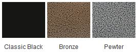 Majestic Black Bronze Pewter Finishes