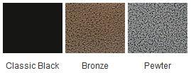 Majestic Black Bronze Pewter Finishes