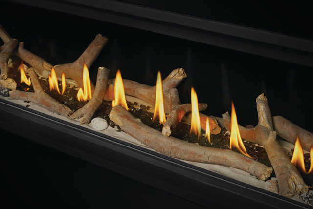 Contemporary Logs and Shore Fire Kit in Vector Linear