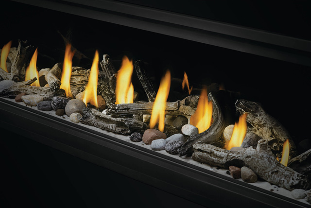 Beach Fire Logs, Mineral Rocks, and Shore Fire Kit in Vector Linear