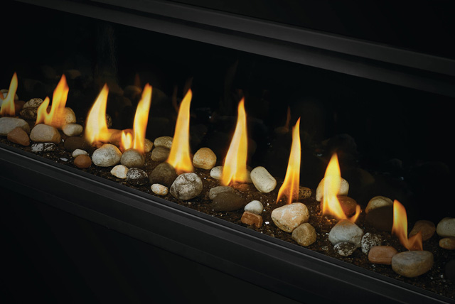 Mineral Rocks on Glass Embers in Vector Linear