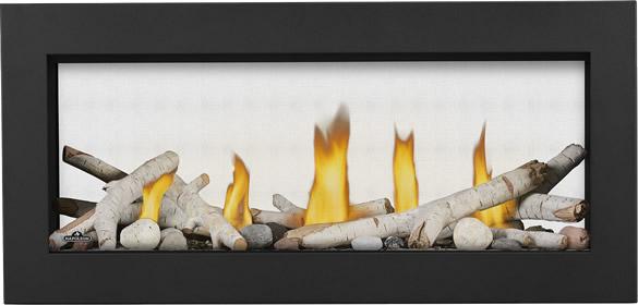 Vector LV38ST Prod Straight Birch Logs Shore Fire Classic Front Black