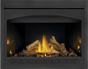 PHAZER® Log Set, MIRRO-FLAME™ Porcelain Reflective Radiant Panels, Heritage Front