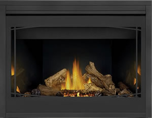 PHAZER® Log Set, MIRRO-FLAME™ Porcelain Reflective Radiant Panels, Zen Front